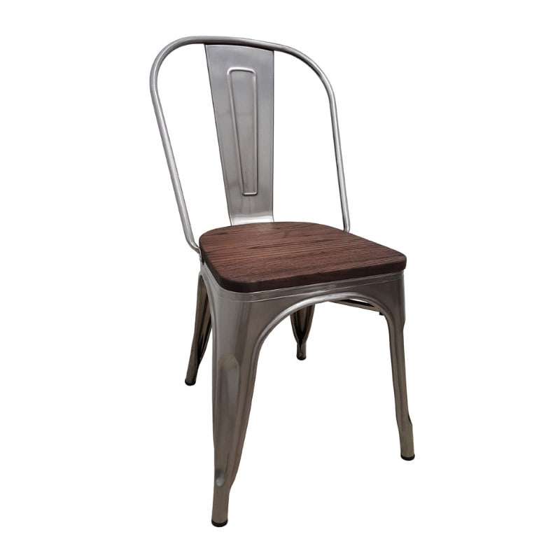 Retro Wood Seat Chair