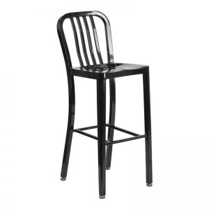 Navy Barstool Black