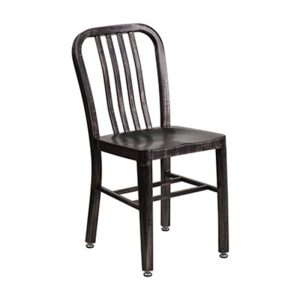 Navy Chair Antique Black