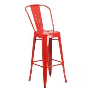 Phoenix Red Barstool