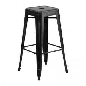 Retro Black Stool