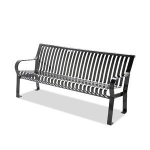 Metal Outdoor Bench with Arms