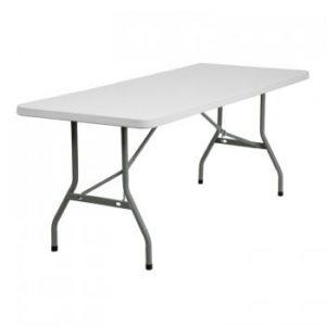 30 X 72 Granite White Plastic Folding Table