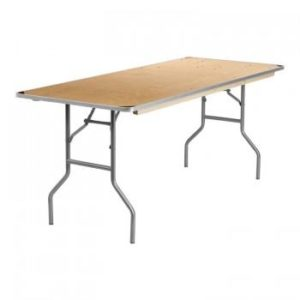 30 X 72 Wood Folding Banquet Table Top